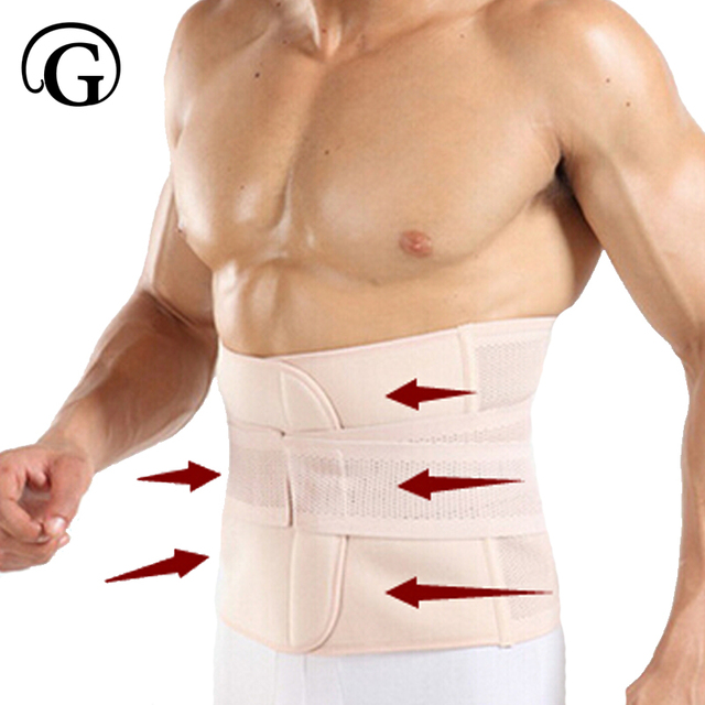 Men Sweat Girdle Slimming Abdominal Belt Waist Cinchers Back Posture Corrector Fit Body Trainer Band Bones Support Body Prayger