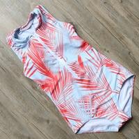 RXRXCOCO One Piece Swimsuit Women's Swimming Suit Printed Swimwear Front Zipper Monokini Floral Bathing Suit With Pad Beachewear