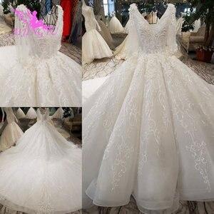 Image 1 - AIJINGYU תוצרת טורקיה מוסלמי כלה שמלת אפריקאי שמלות הטוב ביותר חורף בציר מברשת שמלות רוז יפה שמלות כלה