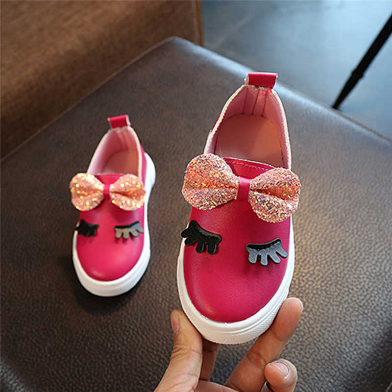 ... Autumn Spring Baby Girls Shoes Kids Princess Formal Party Evening  School Sequin Bowknot Leather Fancy Shoes ... c1aa18cfb3ed