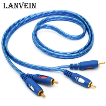 New brand 1.5m 3m 5m Jack 2 RCA Audio Cable to 2 RCA Aux Cable for Edifer Home Theater DVD VCD iPhone Headphones