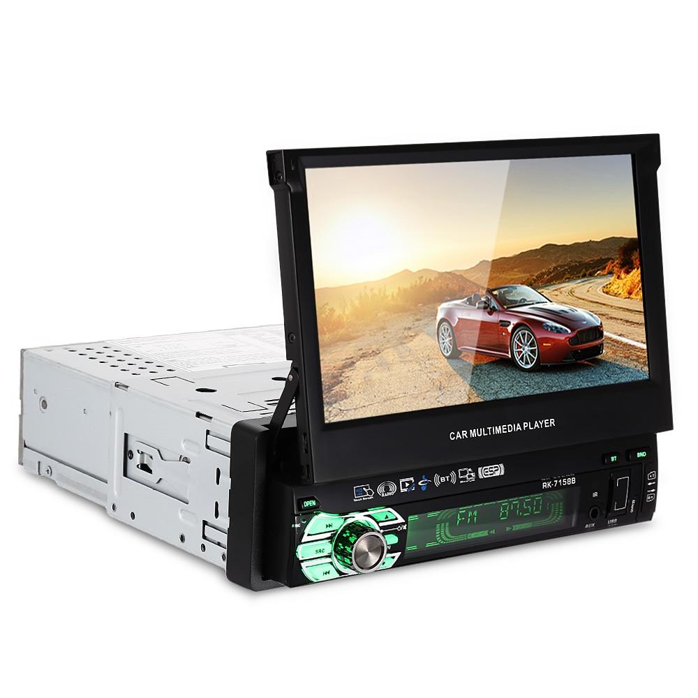 Универсальный 7158B автомобиль мультимедийный плеер AM FM Радио 7-дюймовый HD Сенсорный экран нескольких языков функцией Bluetooth
