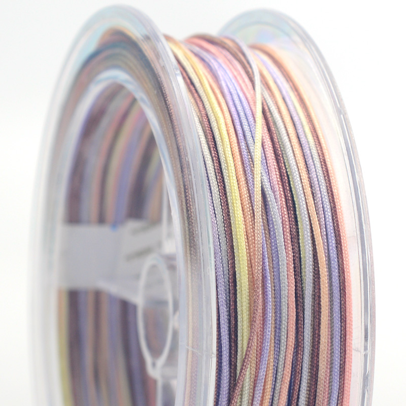 0 8mm colorful Nylon line Thread Chinese Knot Macrame Cord Bracelet Braided String DIY Tassels Beading 25m roll in Jewelry Findings Components from Jewelry Accessories