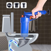 High Pressure Pump Air Drain Blaster Plunger Manual Cleaners Sink Pipe Clog Remover For Toilet Shower Bathroom Kitchen
