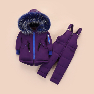 30 degrees Russian winter children 39 s down jacket suit Baby white duck down jacket Girls red windproof thick coat down pants in Clothing Sets from Mother amp Kids