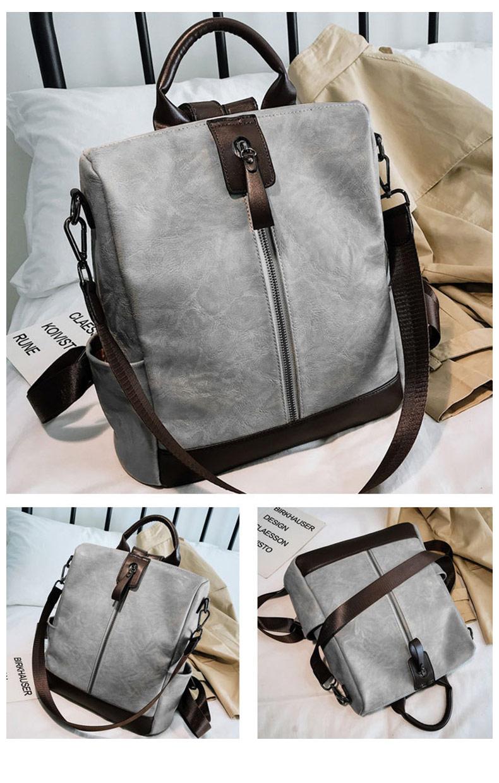 HTB1LdMdbiHrK1Rjy0Flq6AsaFXaF Fashion Women High Quality Leather Backpack Multifunction Leatherett Backpack For Female Big Bookbag Travel Bag Sac A Dos XA279H