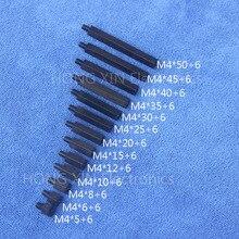 M4*5/6/8/10/12/15/20/25/30/35/40/45/50+6 Black 1 pcs Nylon Standoff Spacer Standard M4 Plastic Male-Female