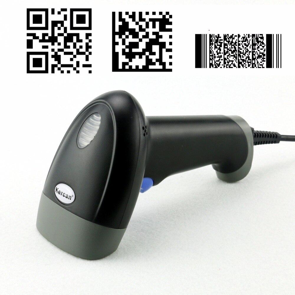 1D 2D Laser Barcode Scanner Handheld Bar code Scanning USB