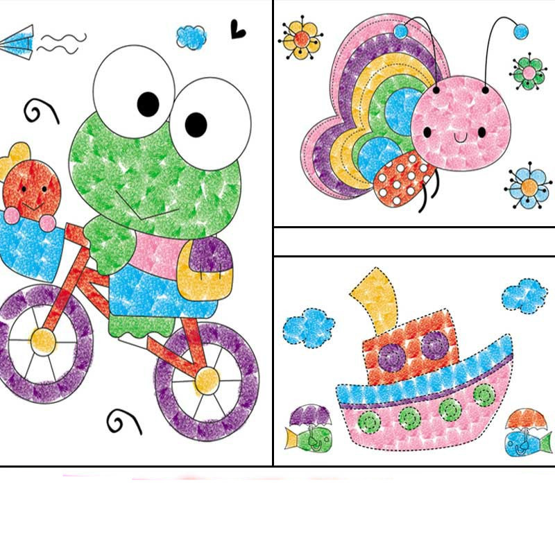 aliexpresscom buy hot sale diy 8pcs cartoon kid finger painting craft set children colorful fingerpaint drawing education learning picture toy from - Cartoon Kid Drawings