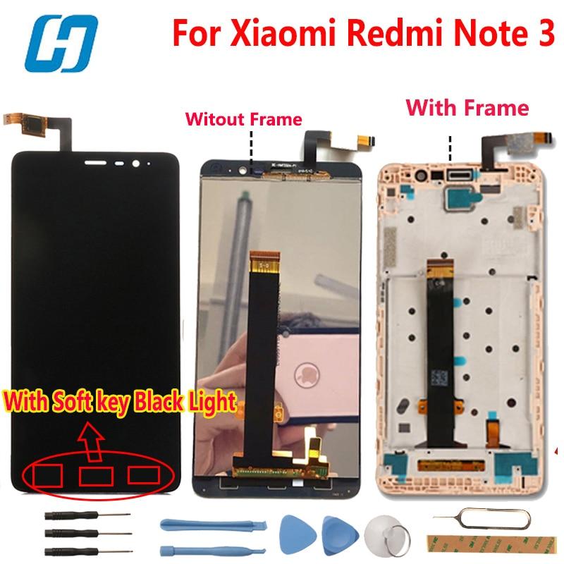 Xiaomi Redmi Nota 3 Display LCD + Digitador Da Tela de Toque Do Painel de Vidro assembléia de Tela Para Xiaomi Redmi Nota 3 Pro Primeiro FHD 5.5''