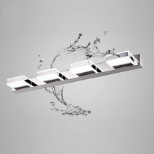 3W-12W Waterproof LED Bathroom Mirror Light Modern Stainless Steel Wall Lamp Acrylic Mirror Bedroom Wall Lamp Home Lighting modern simple rectangle led wall lights lustre acrylic bathroom led wall lamp bedroom wall light mirror led lighting fixtures