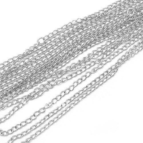 20M/lot 2.8MM/W Nickel Color Metal Extended Chains Link Chain Jewelry Findings Components
