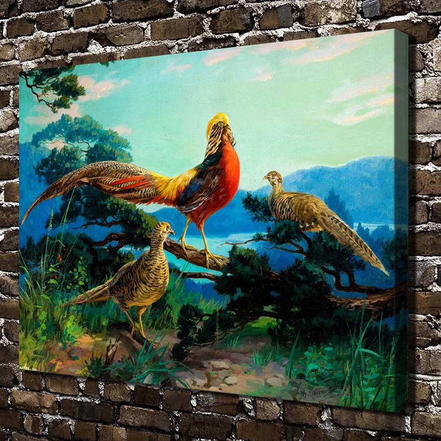 A1543 Beautiful Bird Animals Natural Scenery HD Canvas Print Home Decoration Living Room Bedroom Wall Pictures Art Painting In Calligraphy From