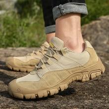 Zapatos de senderismo para hombre al aire libre, transpirables, botas del ejército de combate táctico, zapatillas de entrenamiento antideslizantes para el desierto, zapatos de Trekking
