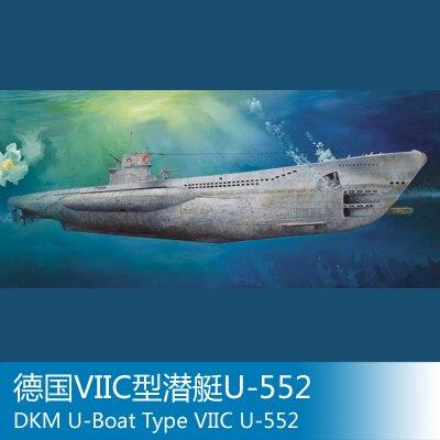 Modèle d'assemblage trompette mains modèle 1/48 allemand VIIC sous-marin militaire modèle sous-marin jouets