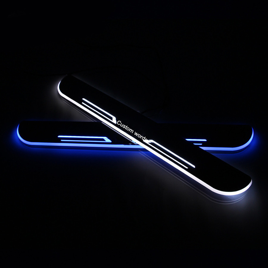 free shipping!!!custom-made LED Door Sill Scuff Plate Welcome Pedal Car Styling Accessories For bmw e46 e39 e36 e46 e60 e90 ects цены
