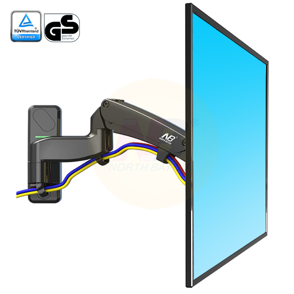 NB F500 Gas Spring 50 60 inch LED TV Wall Mount Monitor Holder Ergonomical Mount Loading