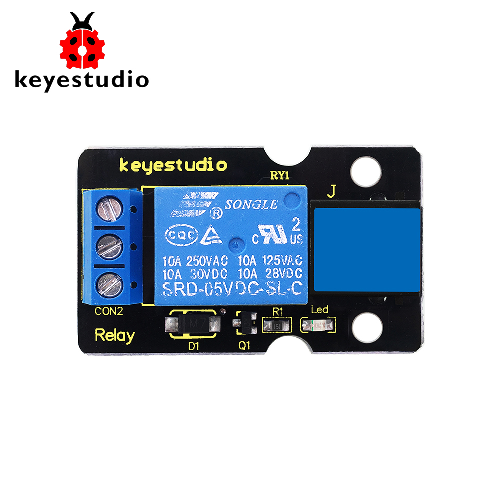 New! Keyestudio EASY Plug Single Relay  One Channel Module For Arduino STEAM