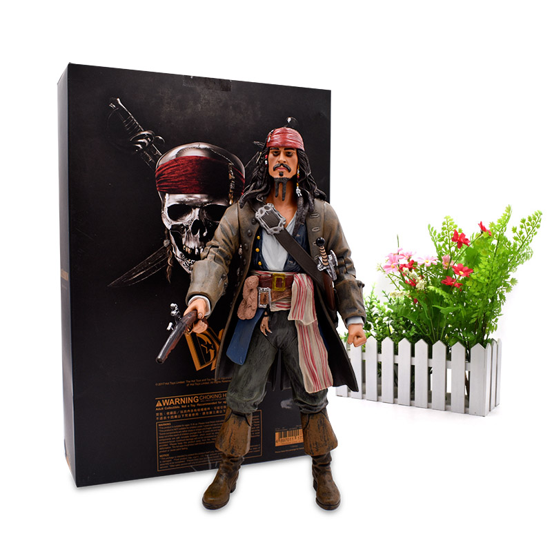 1230 cm Pirates Of The Caribbean Captain Jack Sparrow Action Figure Articular Movable Jackie PVC Collectible Model Toys