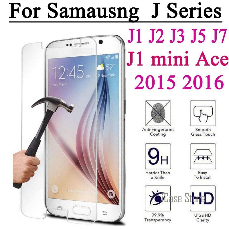 Протектор экрана Закаленное Стекло Пленка Для Samsung Galaxy J1 мини 2016 J2 J3 J5 J7 2015 A3 A5 Премьер-g530 Закаленное Взрыв доказательство