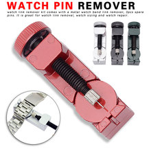 цена на Watch Link For Band Slit Strap Bracelet Chain Pin Remover Adjuster Repair Tool Kit Watch Meter Adjuster