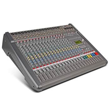 New!!Top quality PowerMate 1600-3MIDI in out 16-way power with amplifier Mixer effect Group 4 double effect with r2X1000