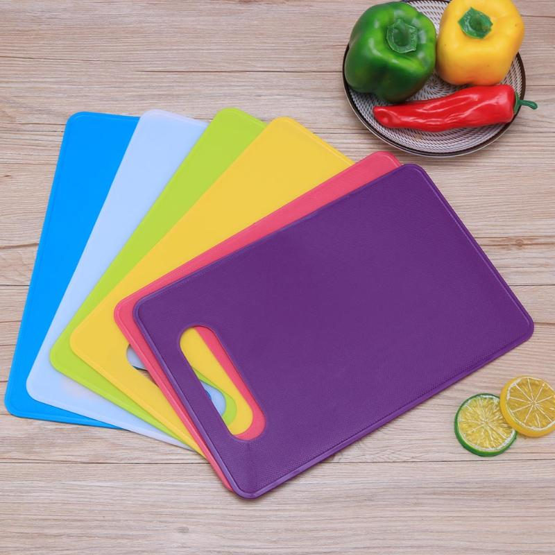 29*19 cm Plastic Anti Bacterium Cutting Board Non-Slip Colorful Food Slice Cut <font><b>Chopping</b></font> Blocks Cooking Tools Kitchen Accessories