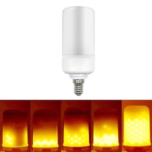 E27 E26 E14 B22 E12 LED Flame Light Flicker Lamp Bulb Fire Effect 99SMD 5W Party Decor Light CLH@8