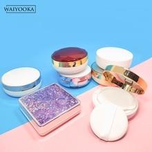 Hacer caso de cojín de aire esponja del soplo de polvo de la caja vacía de líquido Fundación BB crema caja de maquillaje para cosméticos de tocador de almacenamiento de