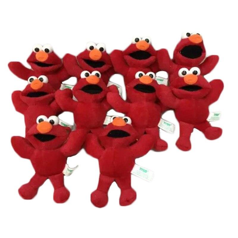 10 Pcs/lot Sesame Street Elmo Cookie Monster Soft Plush Pandant Toy Soft Doll Stuffed Plush Toy Gift