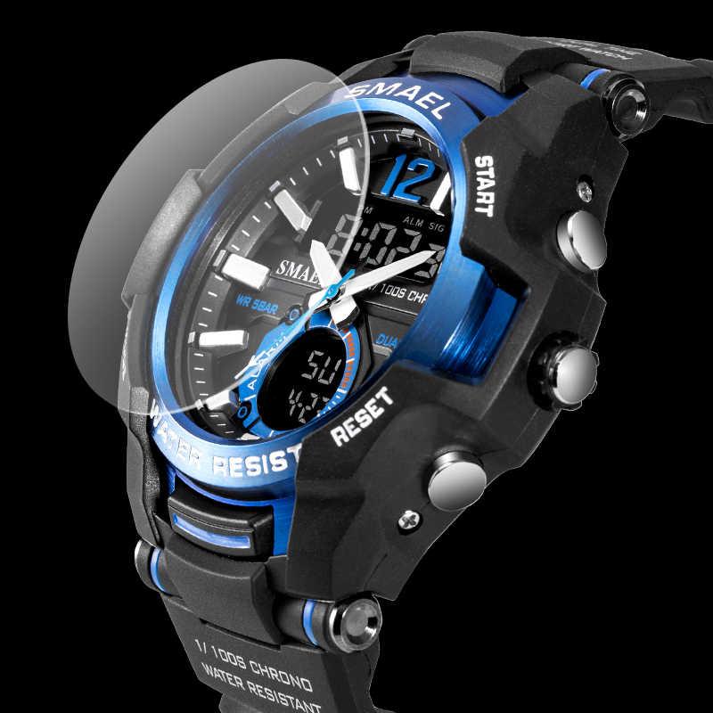 2019 relojes para hombres SMAEL Sport Watch impermeable 50M reloj de pulsera reloj Masculino Militar 1805 reloj Digital Militar para hombres