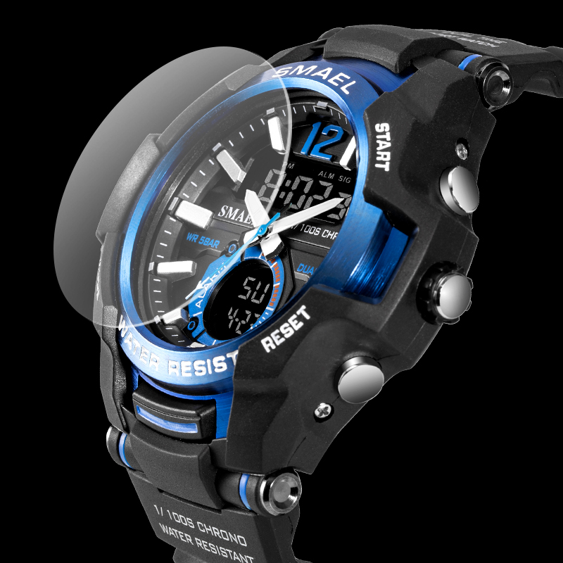 Men Watches SMAEL Sport Watch Waterproof 50M Wristwatch Relogio Masculino Militar 1805 Men's Clock Digital Military Army Watch 2