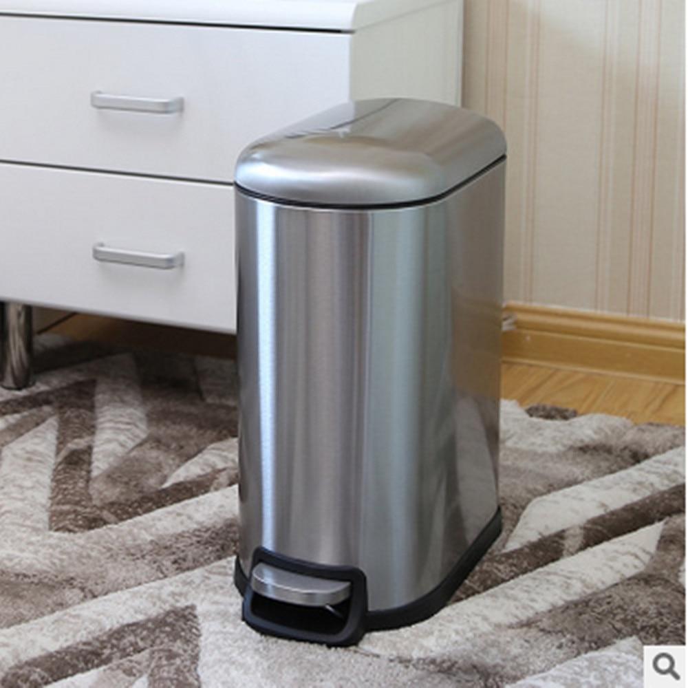 Foot pedal trash can free bin macaron trash can stainless for Stone bathroom bin
