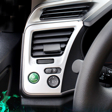 For Honda City Sedan 2014 2015 2016 accessories car Styling ABS Plastic Chrome Car Air Condition outlet Vent frame Cover Trim недорого