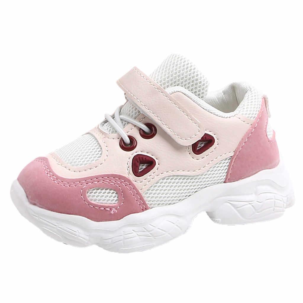Peuter Infant Kids Baby Meisjes Jongens Zachte Zool Mesh Running Sport Schoenen Sneakers Zachte Comfortabele Instappers Slip Op Kinderen Schoenen