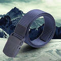 Durable  Fashion Wild Men Canvas Belt Hypoallergenic Metal free Plastic Automatic Buckle