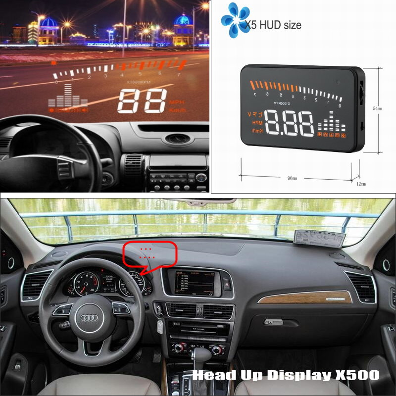 Car HUD Head Up Display For Audi A5 S5 RS5 2007 2015 Modified Safe Driving Screen Projector Inforamtion Refkecting Windshield in Head up Display from Automobiles Motorcycles