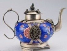 design silver monkey Chinese Tibet Silver Armored Dragon Tea Pot Monkey Lid tools wedding Decoration Brass