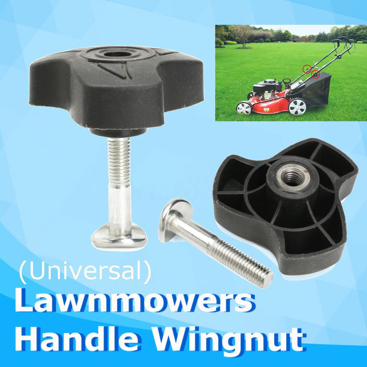 1Pc Universal Lawnmowers Handle Wing Nut Power Equipment Part Wingnut Lawn Mower Parts Garden Tools