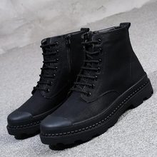 Ankle  mens boots  Genuine Leather  men boots  Riding, Equestrian  winter boots men  Round Toe  man winter shoes 2017 latest men s mid calf boots genuine leather zipper opening round toe riding equestrian chakku high boots itlian cow leather