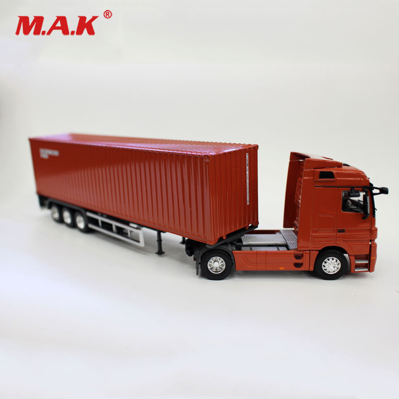 Diecast Alloy 1:50 Scale Red Tex Container Truck Model Air Transport Ship  Truck Vehicle Toy Kids Toys Collection Gifts