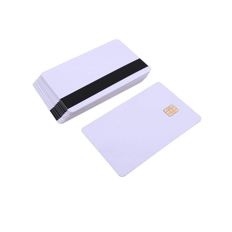 5pcs 10pcs White Blank PVC Contact Smart IC card with 4442 Chip Magnetic Stripe 3 tracks 5pcs/10pcs White Blank PVC Contact Smart IC card with 4442 Chip + Magnetic Stripe 3-tracks HiCo