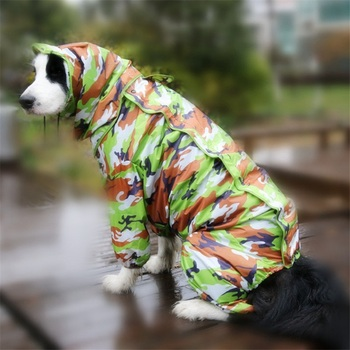 Large Dog Raincoat Jumpsuit  3