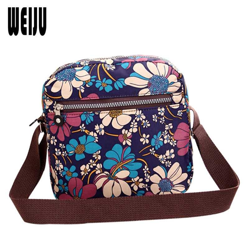 WEIJU Women Messenger Bags  New Brand Shoulder Bags Vintage Print Crossbody Bag