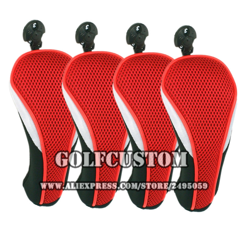 4pcs/set Golf Hybrid Club Head Covers With Interchangeable No.Tag 3,4 ,5,7 ,X Golf UT Head Cover ...