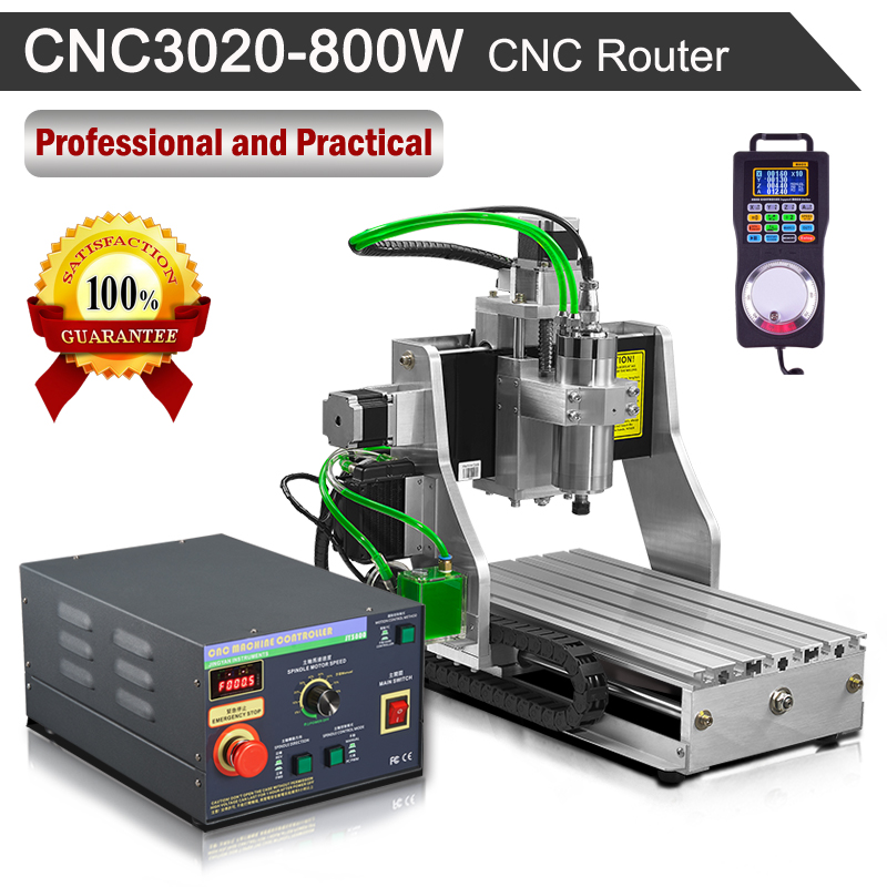 CNC Router 3020 800W 110V/220V Engraving Milling Machine eur free tax cnc 6040z frame of engraving and milling machine for diy cnc router