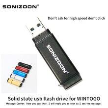 Vara móvel 512 gb 256 gb 128 gb 64 gb 32 gb sonizoon wintog0 da movimentação da pena do usb windows10 do estado sólido do sistema de escritório móvel