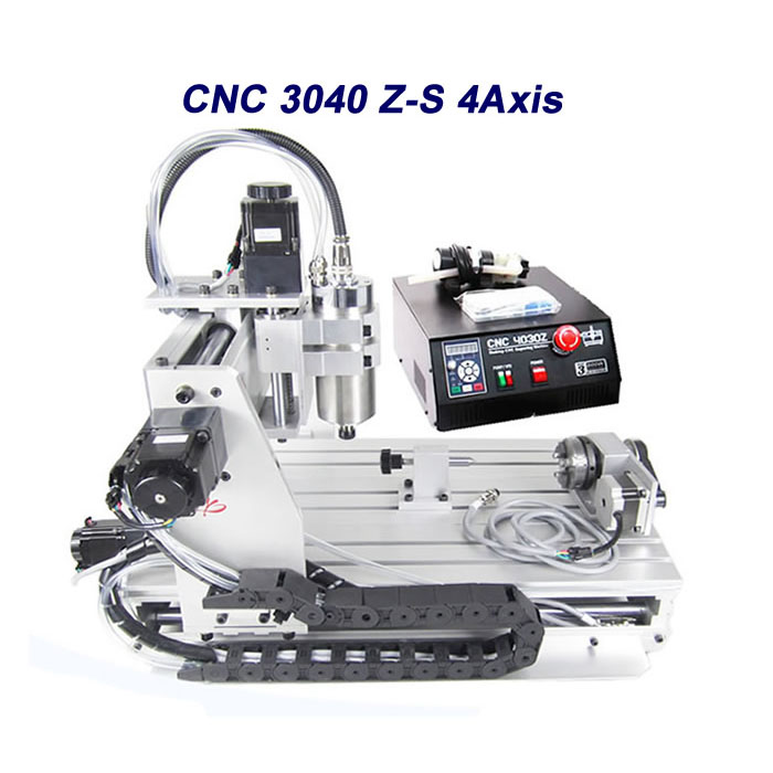 Free tax to Russia 3040 CNC engraver router ball screw aluminum frame 800w spindle free tax to eu high quality cnc router frame 3020t with trapezoidal screw for cnc engraver machine