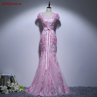 Sexy Black Mermaid Prom Dresses Long For Teens 8th Grade Beaded Prom Evening Party Dresses For