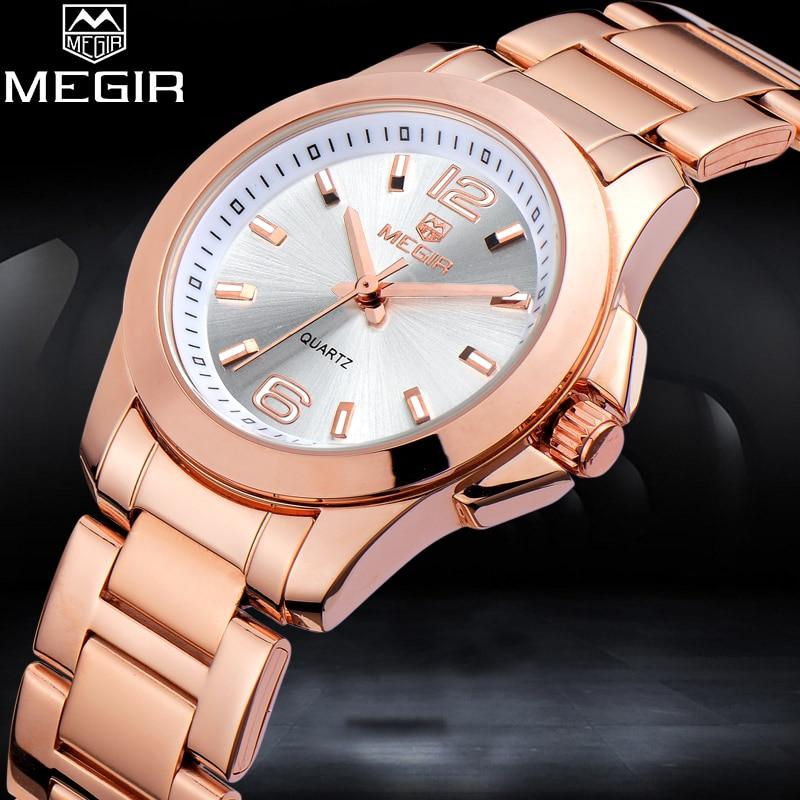 цена MEGIR Women Quartz Watches 2018 New Top Brand Woman Watch Female Fashion Casual Waterproof Clock Relogio Feminino онлайн в 2017 году